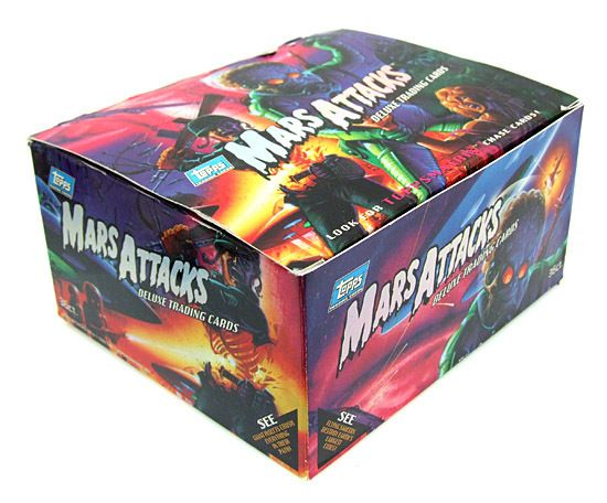 1995 Mars Attacks Topps Collectible Trading Card BOX ONLY MINT Free US