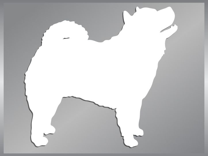 CHOW CHOW Silhouette cut vinyl decal dog car stickers